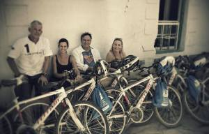 Our team with donated bikes